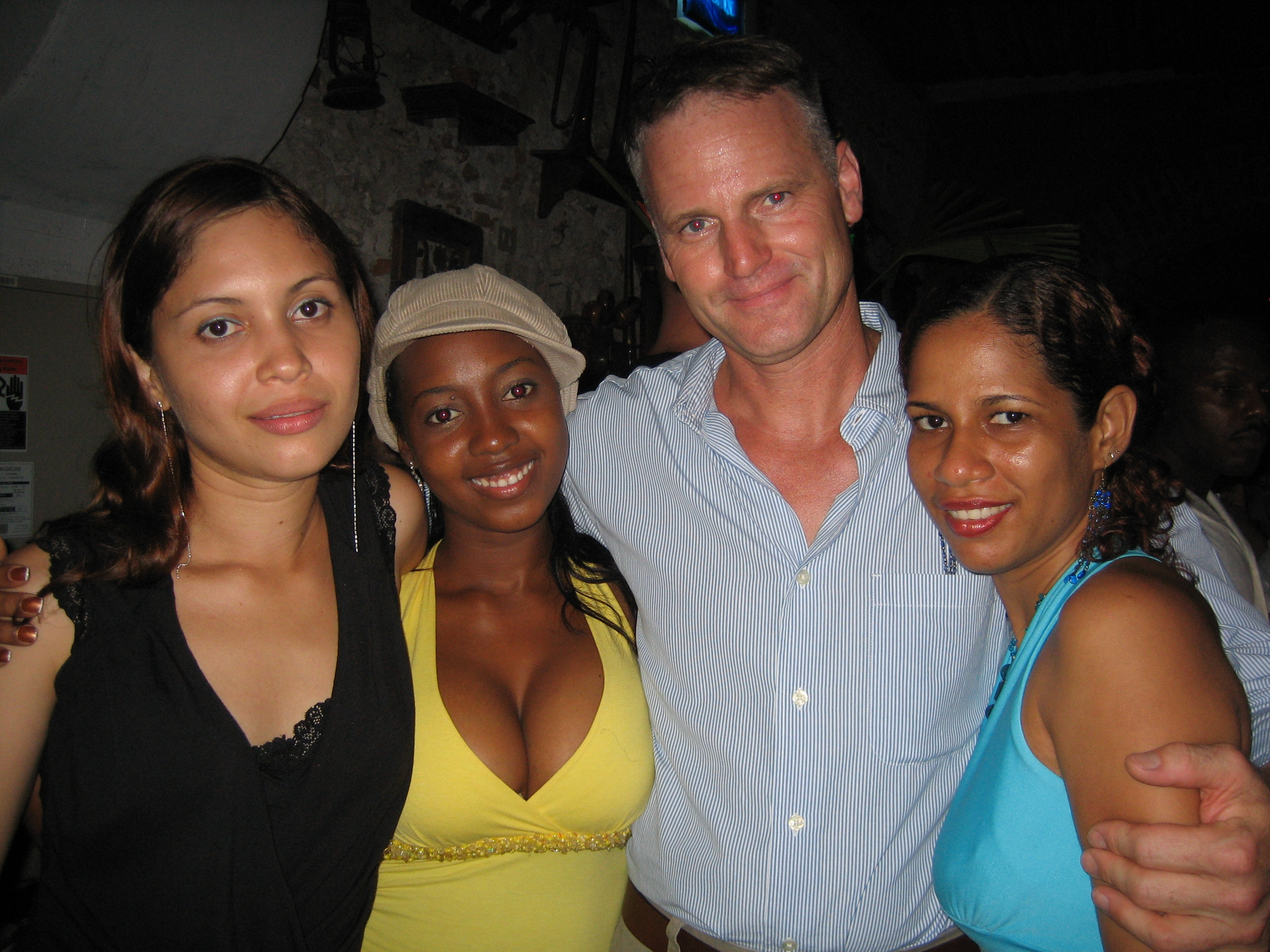 A client meeting his potential matches - Latina women